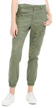 Dollhouse Juniors' Destructed Cargo Pant