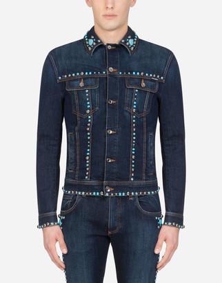 Dolce & Gabbana Denim Jacket With Studs