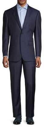 Saks Fifth Avenue Traveller Tailored-Fit Pinstriped Wool Suit