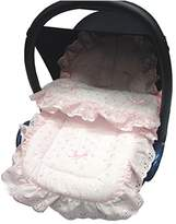 Broderie Anglaise Car Seat Footmuff / Cosy Toes Compatible with Graco Junior Baby/Logico Pink