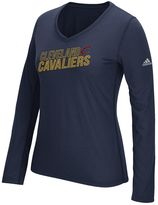adidas Women's Cleveland Cavaliers Stacked Tee