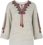 Whistles Embroidered Open Neck Sweat