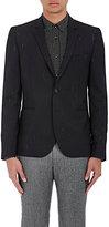 Paul Smith Men's Slub Wool-Blend Two-Button Sportcoat-BLACK, WHITE