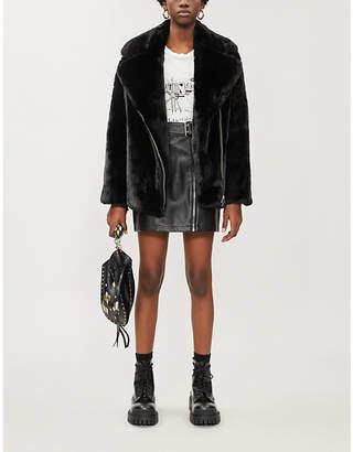 The Kooples Sport Faux-fur zipped coat