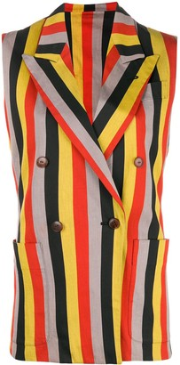 Jean Paul Gaultier Pre-Owned striped double-breasted waistcoat