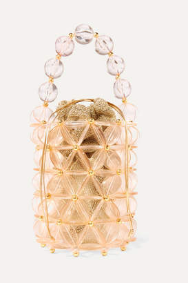 clear Vanina - Icaria Acrylic And Gold-tone Beaded Tote - Pink