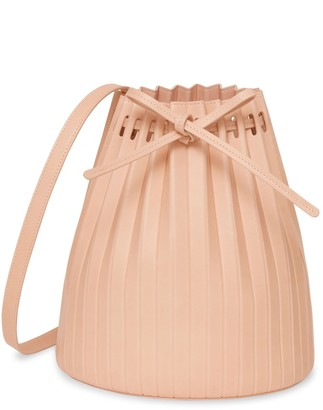 Mansur Gavriel Vegetable Tanned Pleated Bucket Bag - Rosa
