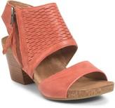 Sofft Milan Leather Block Heel Sandal