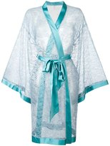 Dolci Follie - lace kimono robe - women - Polyester/glass - One Size