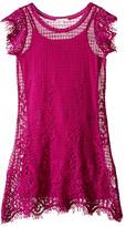 Ella Moss Short Sleeve Shift Crochet Dress w/ Cami Dress (Big Kids)