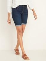 Old Navy Mid-Rise Dark Wash Bermuda Jean Shorts for Women -- 9-inch inseam