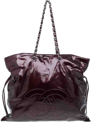 Chanel Burgundy Patent leather Handbags