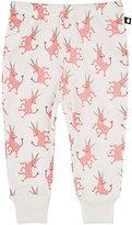 Oeuf Unicorn-Pattern Organic Pima Cotton Pants-PINK