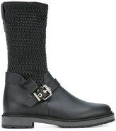 Fendi smocked boots - women - Leather/Polyester/Polyurethane/rubber - 40