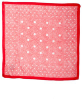 Vintage Red & White Polka Dot Print Scarf