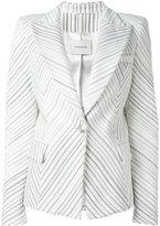 Pierre Balmain striped blazer - women - Acrylic/Cotton/Polyester/Viscose - 38