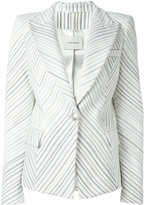 Pierre Balmain striped blazer - women - Cotton/Acrylic/Polyester/Viscose - 38