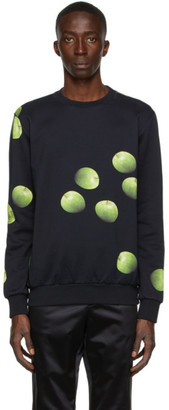 Paul Smith 50th Anniversary Black Apple Print Sweatshirt