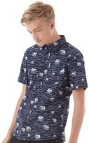 Bellfield Mens Brava Wave Shirt Navy