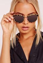 Missguided Tortoise Frame Cat Eye Sunglasses Brown