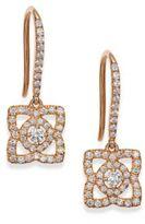 De Beers Enchanted Lotus Diamond & 18K Rose Gold Drop Earrings