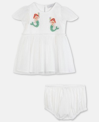 Stella Mccartney Kids Stella McCartney mermaids embroidery dots tulle dress
