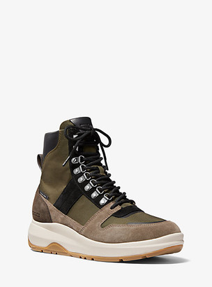 Michael Kors Asher Canvas and Suede Boot