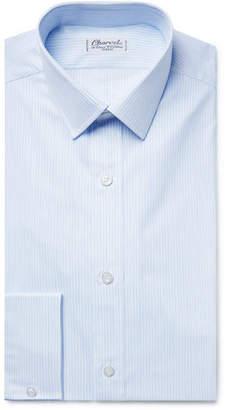 Charvet Light-Blue Slim-Fit Pinstriped Cotton-Poplin Shirt