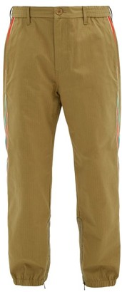 Gucci Elasticated-waist Cotton-blend Ripstop Trousers - Beige