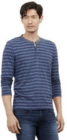 Kenneth Cole Long Sleeve Striped Henley