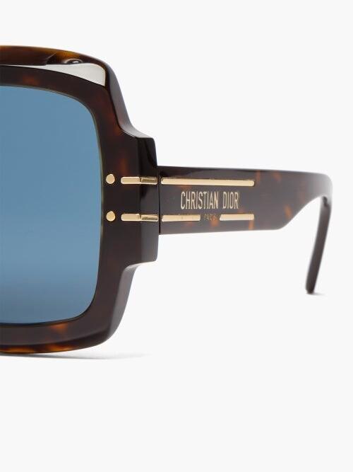 Thumbnail for your product : Christian Dior Diorsignature Oversized Square Acetate Sunglasses - Tortoiseshell