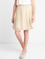 Gap Shimmer waist pleated skirt