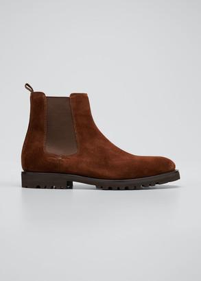 Brunello Cucinelli Men's Suede Chelsea Boots