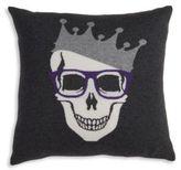 Rani Arabella Skull Cashmere & Wool Pillow