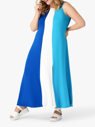 Live Unlimited Curve Colour Block Sleeveless Maxi Dress