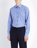 Eton Micro-check slim-fit cotton shirt