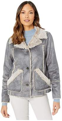 True Grit Dylan by Easy Rider Jacket Soft Bonded Faux-Shearling with Pockets (Denim) Women's Clothing