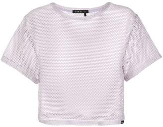 Koral open mesh cropped T-shirt