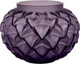 Lalique Languedoc crystal vase 12cm, Purple