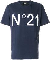 No.21 logo patch T-shirt - men - Cotton - XS
