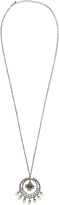 Accessorize Elaborate Pearl Drop Hoop Necklace