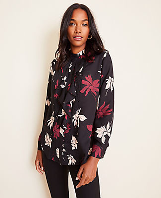Ann Taylor Tall Floral Icon Blouse