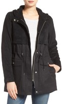 Vince Camuto Women's Mixed Media Hooded Jacket