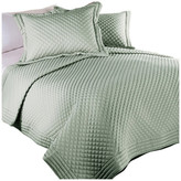 Epoch Hometex/Lotus Home Lotus Home Diamondesque Water and Stain Resistant Quilt, Sage, F/Q