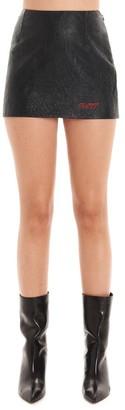 Philosophy di Lorenzo Serafini Logo Embroidered Textured Mini Skirt