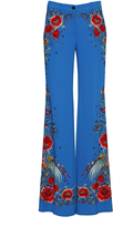Roberto Cavalli Floral Stretch Cady Trousers