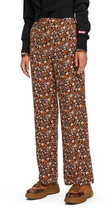 Scotch & Soda Edie Floral High Waist Wide Leg Pants