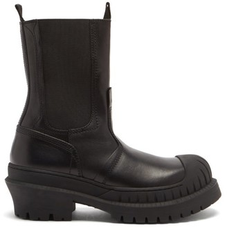 Acne Studios Bryant Leather And Rubber Boots - Black