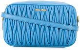 Miu Miu embossed rectangular crossbody bag - women - Lamb Skin - One Size