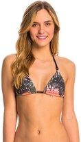 Hurley Sunset Palms Reversible Triangle Bikini Top 8141125